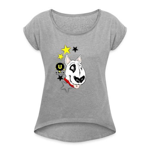 UNIK BULL TERRIER - Maglietta da donna con risvolti