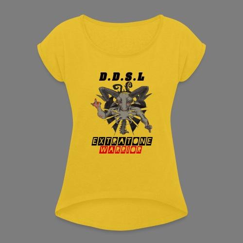 DDSL E W M.A.X - Vrouwen T-shirt met opgerolde mouwen