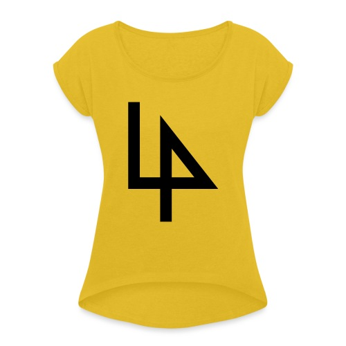4 - Women's T-Shirt with rolled up sleeves