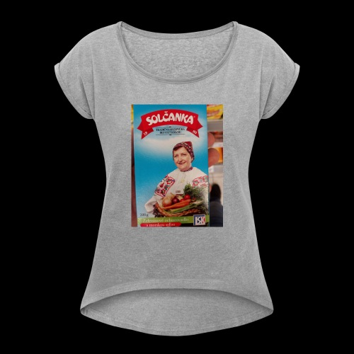 Babushka's fines - Women's T-Shirt with rolled up sleeves
