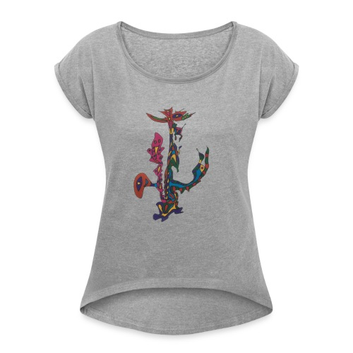 The man who sold the world. - Vrouwen T-shirt met opgerolde mouwen