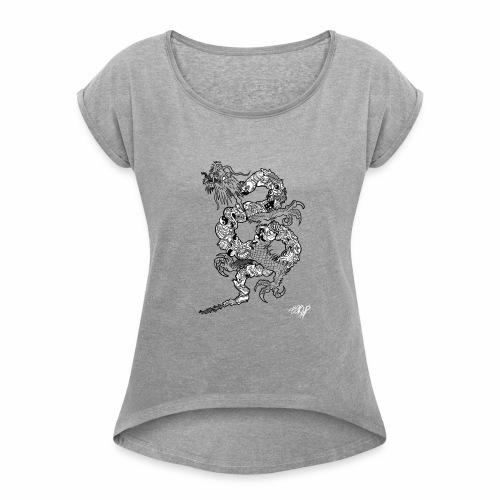 Dragon Chino - Camiseta con manga enrollada mujer