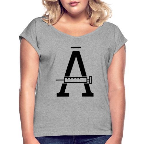 PiriTorin Ässä - Naisten T-paita, jossa rullatut hihat