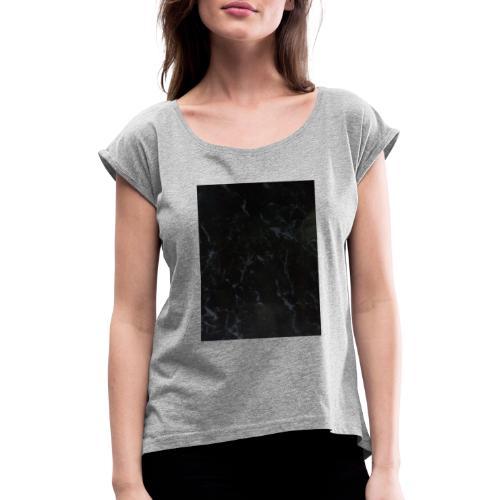 Manchas cricc - Camiseta con manga enrollada mujer