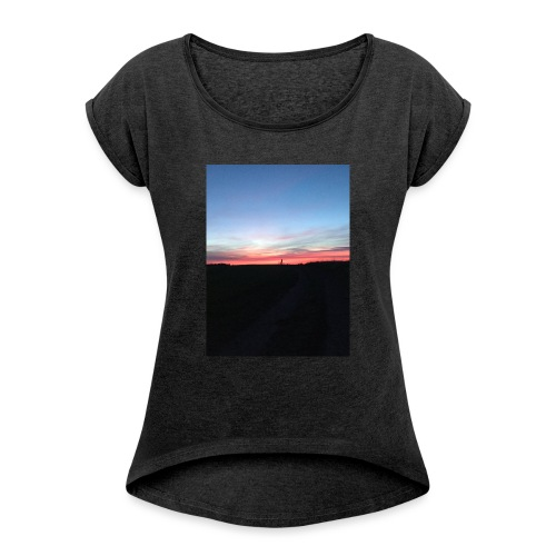 late night cycle - Women's T-Shirt with rolled up sleeves