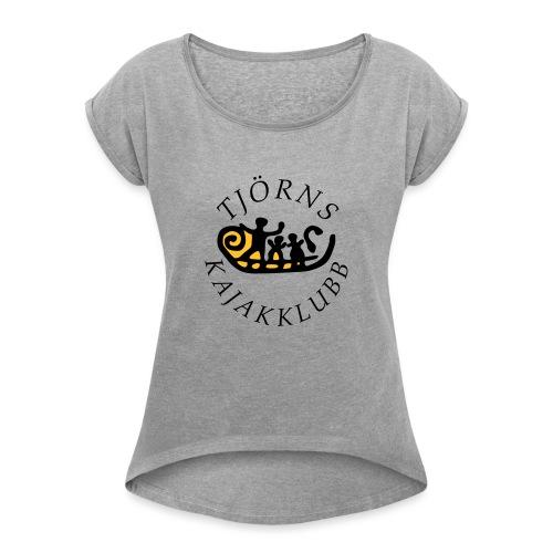 tjkk logo2018 - T-shirt med upprullade ärmar dam