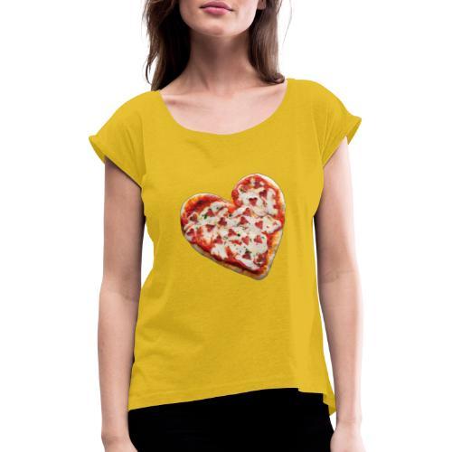 Pizza a cuore - Maglietta da donna con risvolti