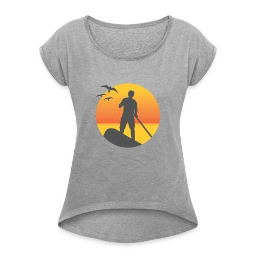 gbshape - T-shirt à manches retroussées Femme