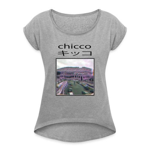 Chicco - Maglietta da donna con risvolti