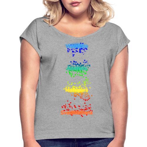Guess Chakras - T-shirt à manches retroussées Femme