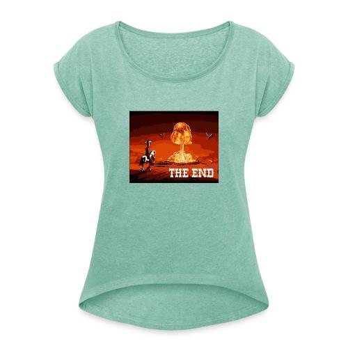 THE END (version 2 : pour toute couleur de fond) - T-shirt à manches retroussées Femme