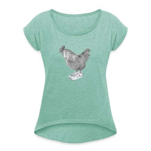 cocorico - T-shirt à manches retroussées Femme