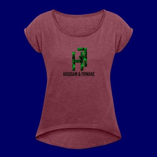 h&f - Maglietta da donna con risvolti