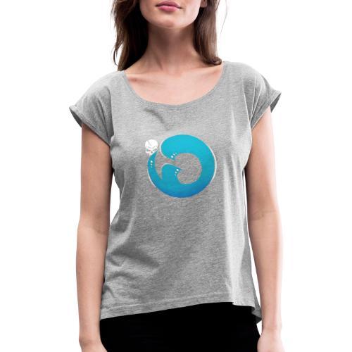 Logo iG | Team Esport - T-shirt à manches retroussées Femme
