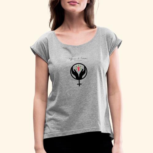 Affaires de Femmes - T-shirt à manches retroussées Femme