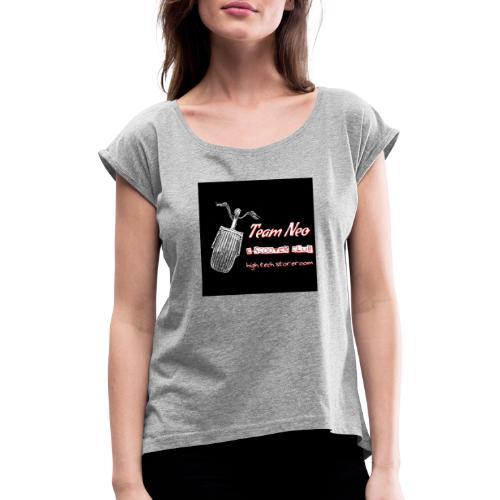 Neo Scooter Club - T-shirt à manches retroussées Femme