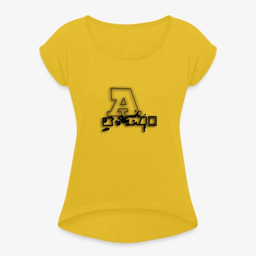AI Beats - Women's T-Shirt with rolled up sleeves