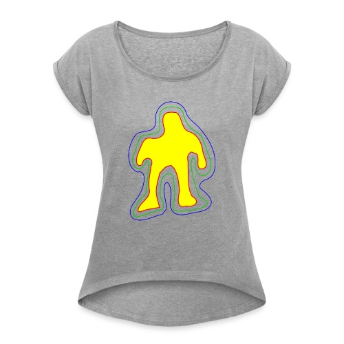 The famous yellow man - Women's T-Shirt with rolled up sleeves