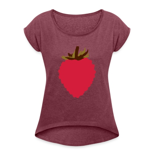 Wild Strawberry - Women's T-Shirt with rolled up sleeves