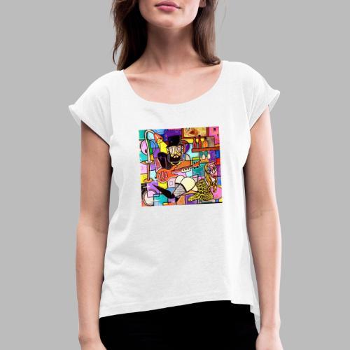 Vunky Vresh Vantastic - Vrouwen T-shirt met opgerolde mouwen