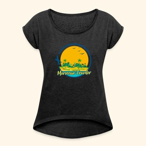 Moroccan Traveler - T-shirt à manches retroussées Femme