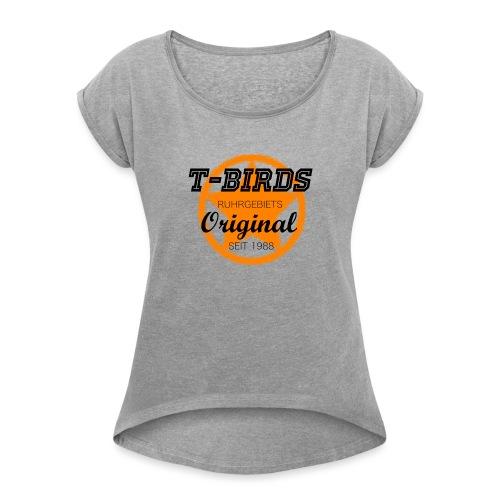 T-Birds1988 - hell - Frauen T-Shirt mit gerollten Ärmeln