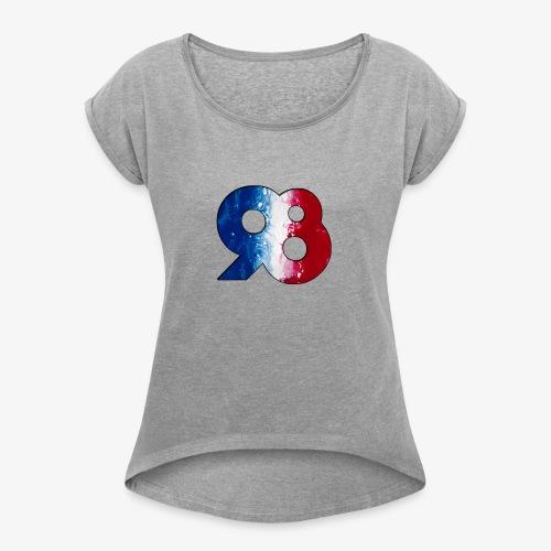 1998 - T-shirt à manches retroussées Femme