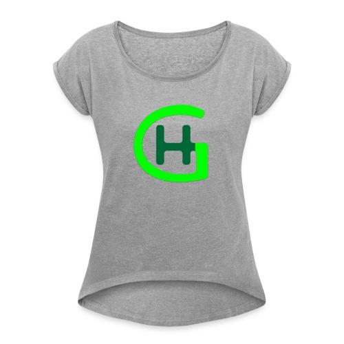 GH Logo - Frauen T-Shirt mit gerollten Ärmeln