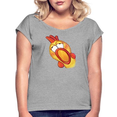 Gummihuhn Gasm - Frauen T-Shirt mit gerollten Ärmeln