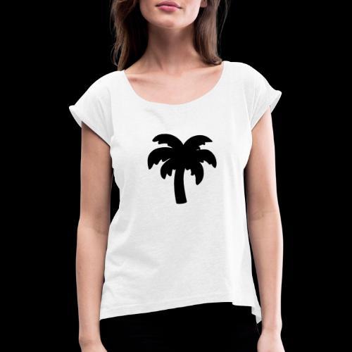 Palm Basic Black - Dame T-shirt med rulleærmer