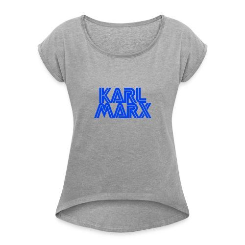 Karl Marx Logo - Maglietta da donna con risvolti