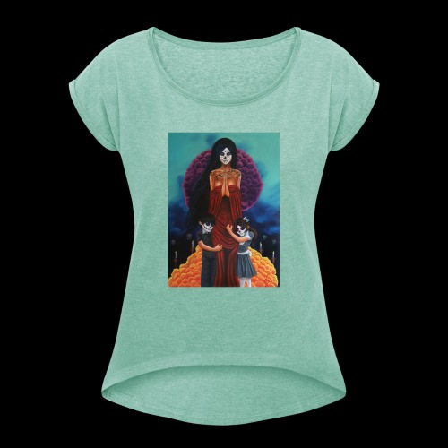 los fieles difuntos - Women's T-Shirt with rolled up sleeves