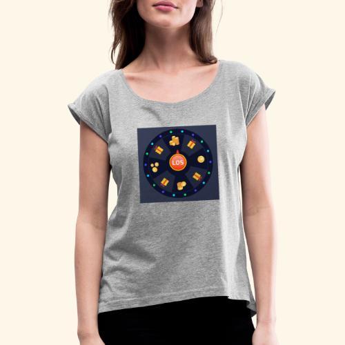 Glücksrad - Frauen T-Shirt mit gerollten Ärmeln