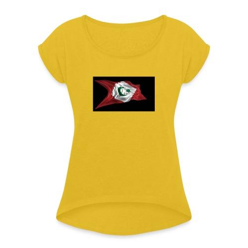 rif flag drapeau du rif de 1921 au 1927 Tamazgha.. - Vrouwen T-shirt met opgerolde mouwen
