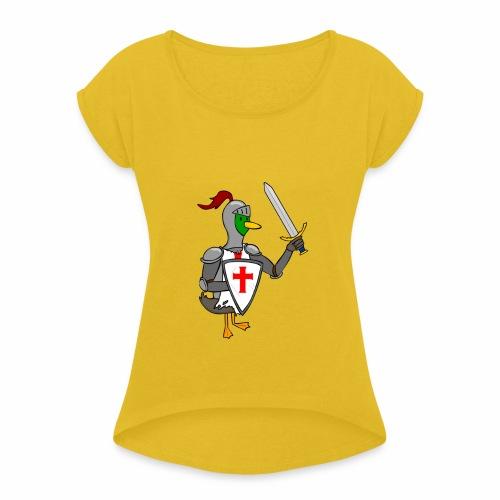 ducking crusade - Vrouwen T-shirt met opgerolde mouwen