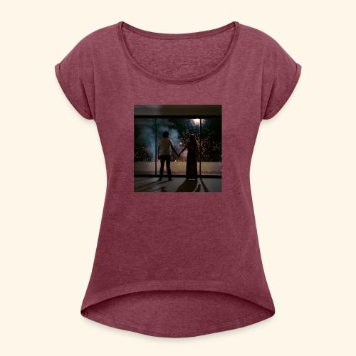 Mum look at me, I'm really okay. - T-shirt à manches retroussées Femme