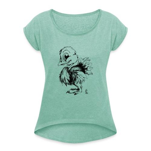 Autruchon - T-shirt à manches retroussées Femme