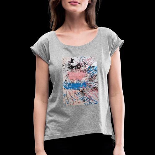 Emelie Kunstwerk V. - Frauen T-Shirt mit gerollten Ärmeln