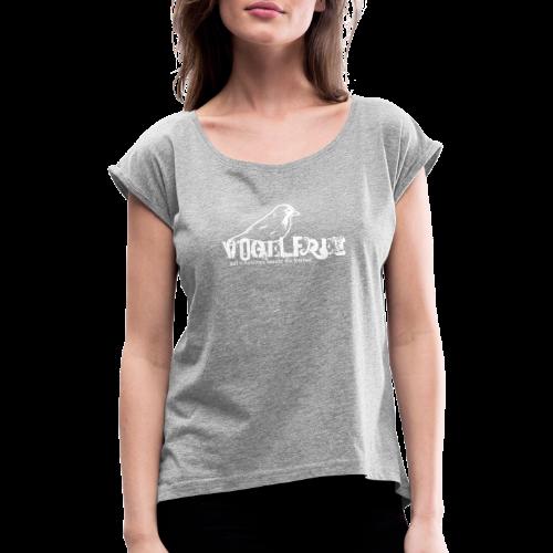 geweihbär Vogelfrei 2 - Frauen T-Shirt mit gerollten Ärmeln
