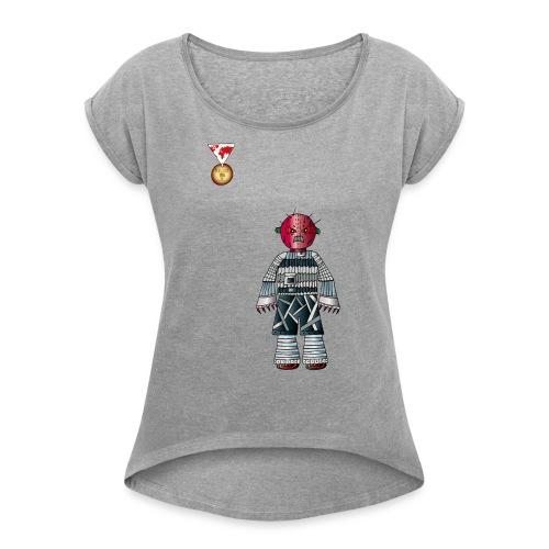 Trashcan - Frauen T-Shirt mit gerollten Ärmeln