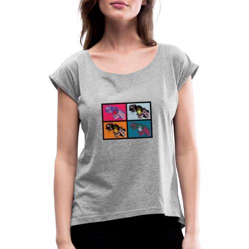 AFFENFAMILIE - Frauen T-Shirt mit gerollten Ärmeln