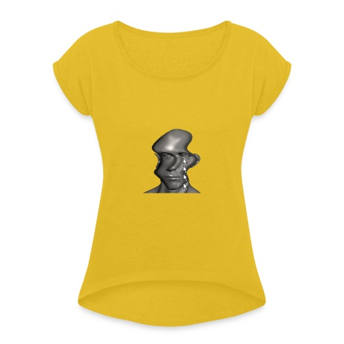 cursor_tears - Women's T-Shirt with rolled up sleeves