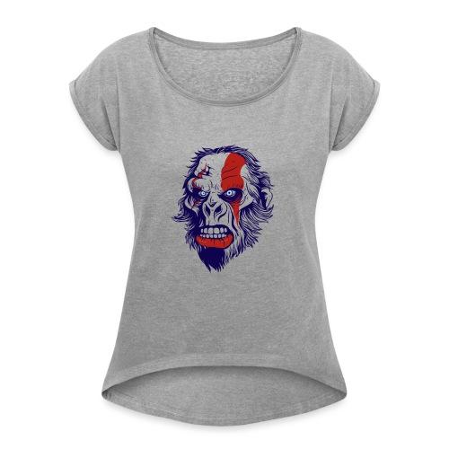 Kratos - Dame T-shirt med rulleærmer