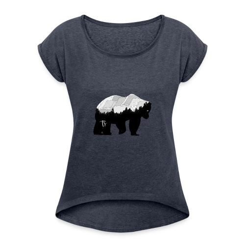 Geometric Mountain Bear - Maglietta da donna con risvolti
