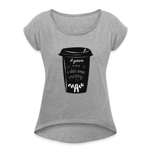 Coffee - Maglietta da donna con risvolti