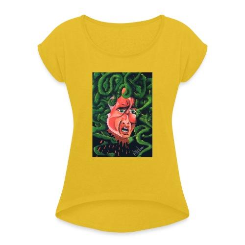 MedusaMay - Maglietta da donna con risvolti