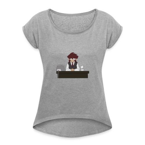 klaus tea times - T-shirt à manches retroussées Femme