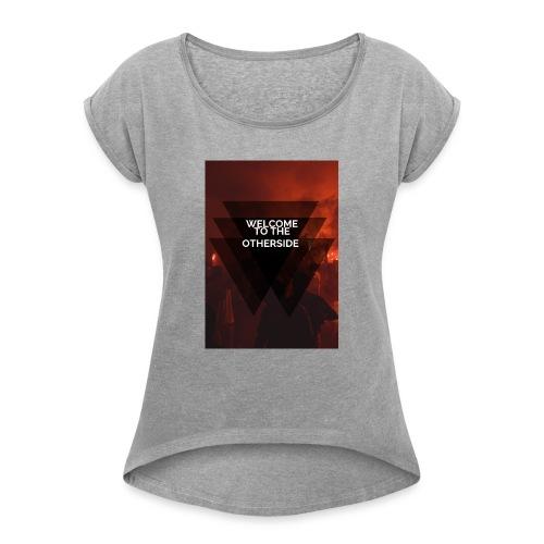 otherside - Camiseta con manga enrollada mujer
