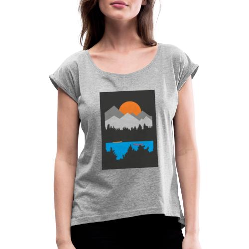 Row boats - Women's T-Shirt with rolled up sleeves