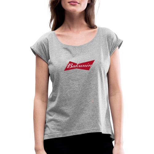 BAKUNIN - Camiseta con manga enrollada mujer
